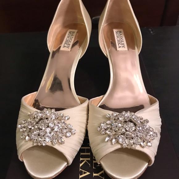 662a1a7076 Badgley Mischka Shoes | Mischka Badgley Sabine Embellished Evening ...